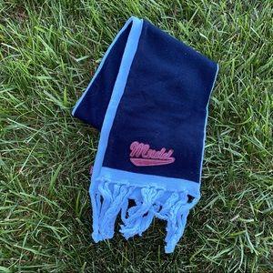 Y2K Mudd logo two tone fringe scarf